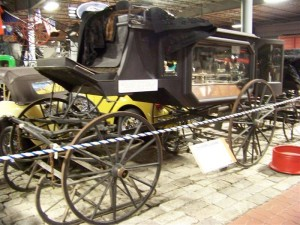 The ancient hearse from the cemetery. Now displayed in the Cole Museum. Bangor, Maine.